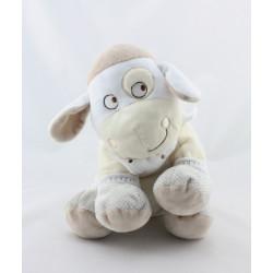 Doudou vache beige écru gris pois MOTS D'ENFANTS