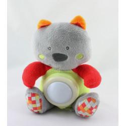 Doudou veilleuse koala gris rouge orange vert TINEO
