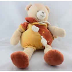 Doudou et compagnie ours orange jaune cannelle 42 cm