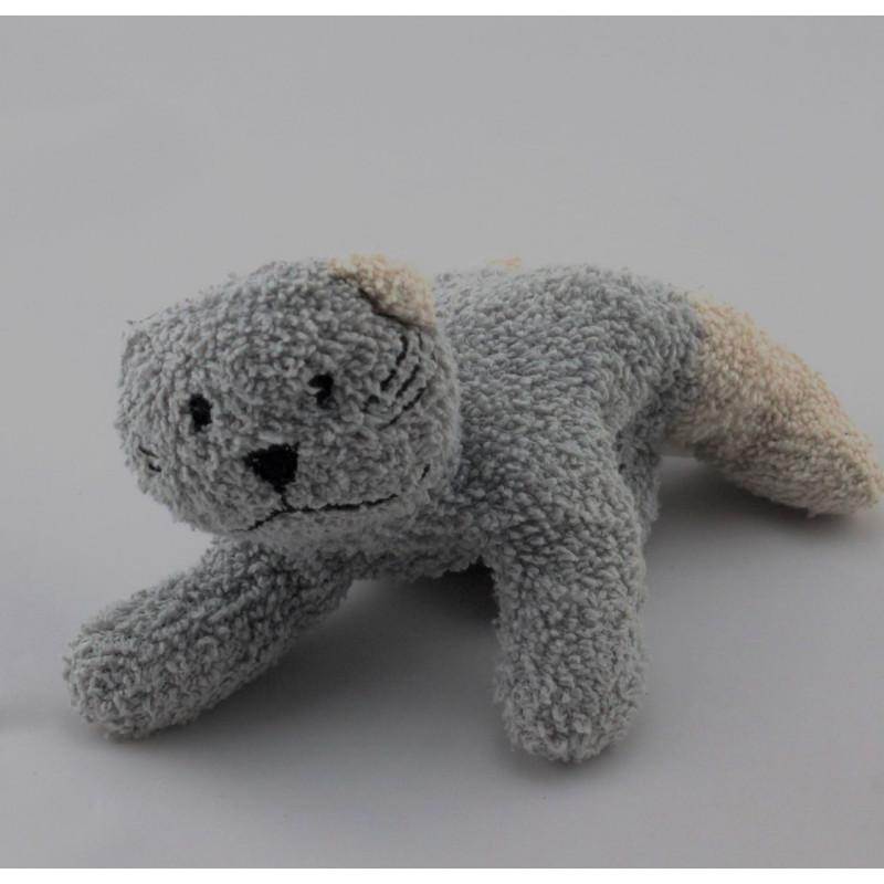 Doudou chat gris beige COMPTINE