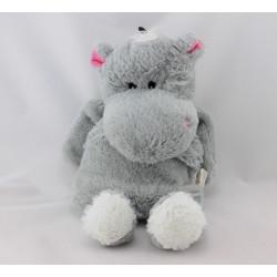 Doudou micro ondable hippopotame gris SODINTER