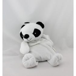 Doudou micro ondable panda blanc noir SODINTER