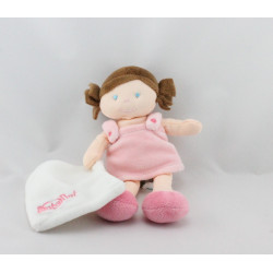 Doudou poupée fille rose mouchoir BABY NAT