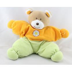 Doudou range pyjama ours orange vert AJENA