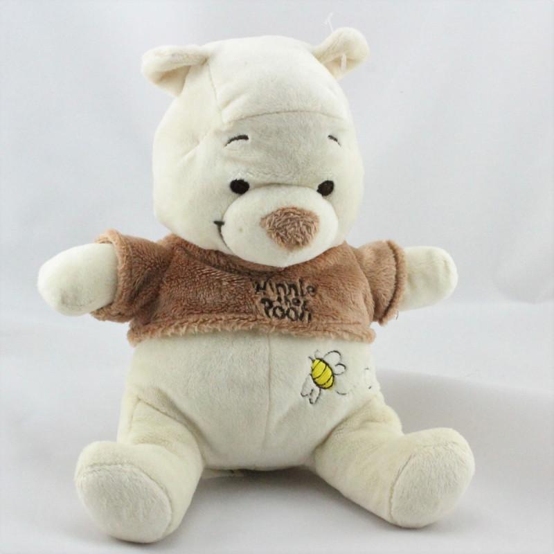 Doudou Winnie l'Ourson écru beige marron Disney Baby
