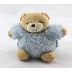 Mini Doudou ours bleu fourrure Fur KALOO
