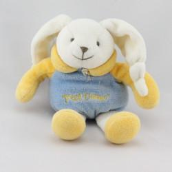 Doudou et compagnie lapin ptit doux bleu jaune