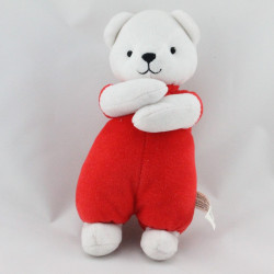 Doudou ours rouge blanc SMOBY