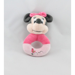 Doudou hochet minnie rose oiseau DISNEY