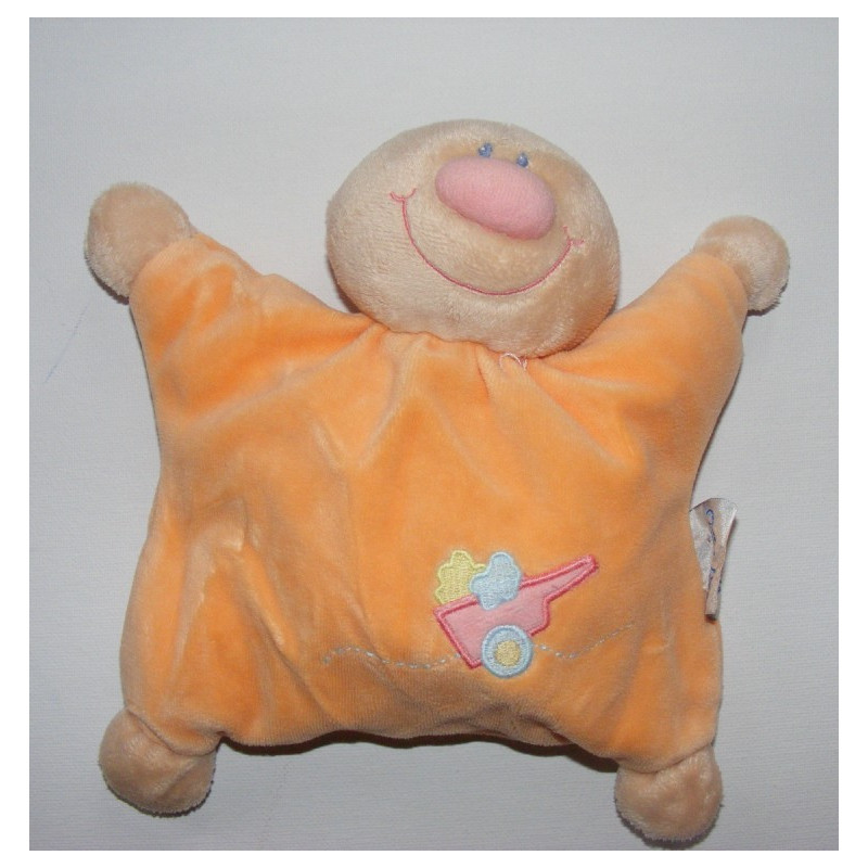 Doudou semi plat Billy et Babette orange NATTOU