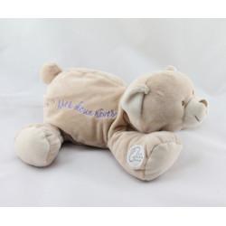 Doudou et compagnie ours beige Mes Doux Rêves avec musique relaxante