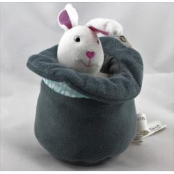 Doudou musical lapin blanc dans son chapeau IKEA