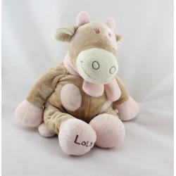 Doudou vache Lola Rosalie taches rose NOUKIE'S