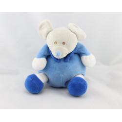 Doudou musical souris bleu blanc Souricette BESTEVER 2009
