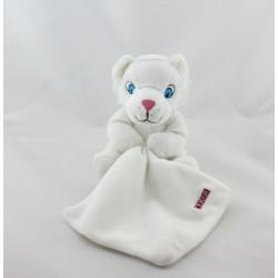 Doudou tigre blanc mouchoir ECO SYS ACTION