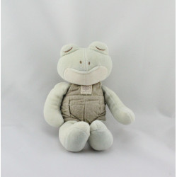 Doudou grenouille salopette beige MY NATURAL