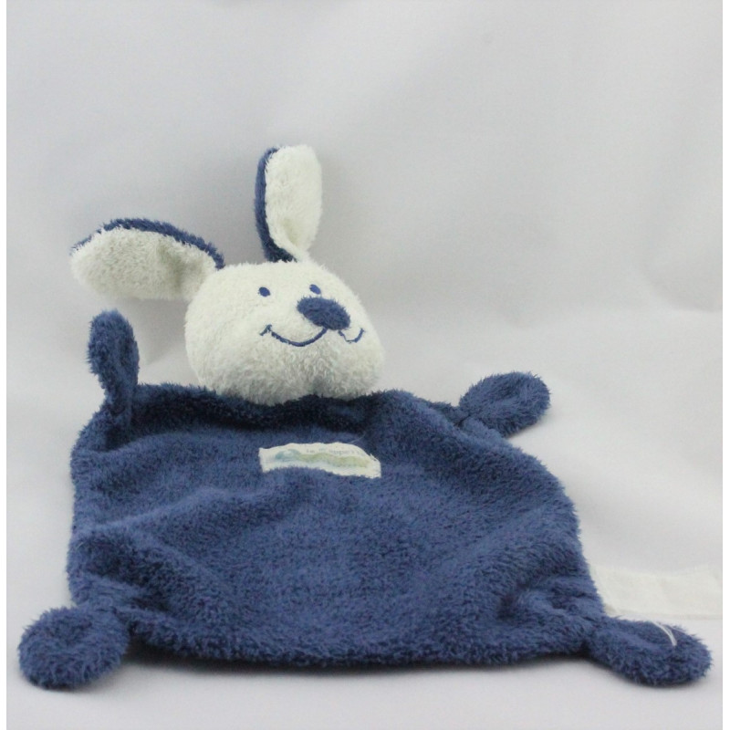 Doudou Chien bleu et blanc Nicotoy The Baby Collection