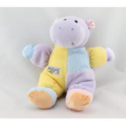 Doudou hippopotame mauve jaune rose BABY GUND