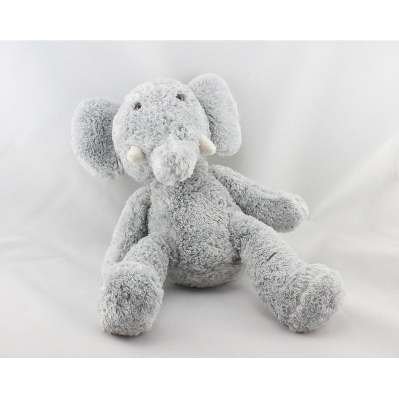 Doudou éléphant gris NOUNOURS