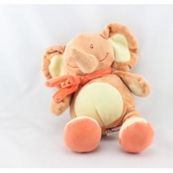 Doudou éléphant orange jaune BENGY