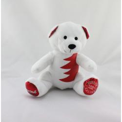 Doudou ours blanc rouge 100 % Purs Calins NOCIBE NOEL 2015