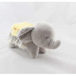 Doudou éléphant gris couverture jaune ORCHESTRACHESTRA