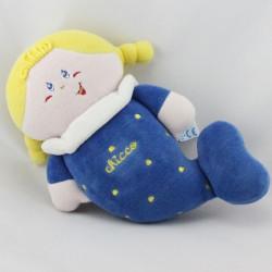 Doudou musical poupée siréne bleu CHICCO