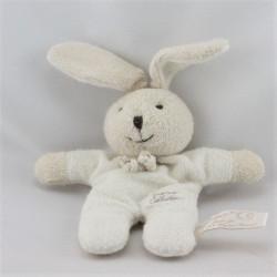 Doudou lapin blanc beige TIAMO COLLECTION