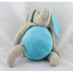 Doudou lapin gris bleu JARDIN D'ULYSSE