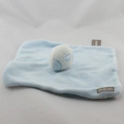 Doudou plat oiseau bleu blanc ORCHESTRA