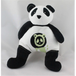 Doudou musical panda noir et blanc OBAIBI