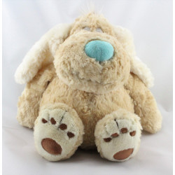 Doudou chien beige nez bleu ANNA CLUB PLUSH