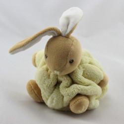 Doudou petit lapin Plume jaune KALOO