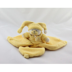 Doudou et compagnie plat ours jaune Douceur Macaron