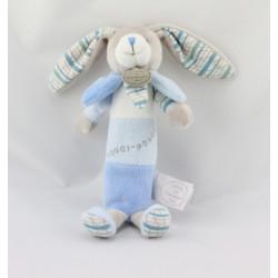Doudou et compagnie baton pouet lapin bleu blanc pétale Mon doudou à moi