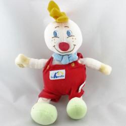 Doudou clown rouge vert jaune bleu LES KARELLIS