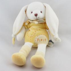 Doudou et compagnie lapin blanc jaune Flapy