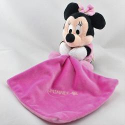Doudou Minnie rose avec mouchoir Brille dans la nuit DISNEY