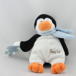 Doudou pingouin noir blanc flocon BABY NAT