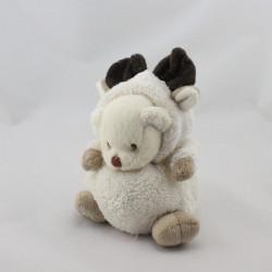 Doudou ours déguisé en élan cerf BUKOWSKI
