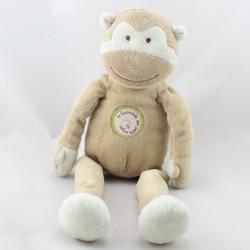 Doudou singe beige la farandole des petits singes KIABI BEBE