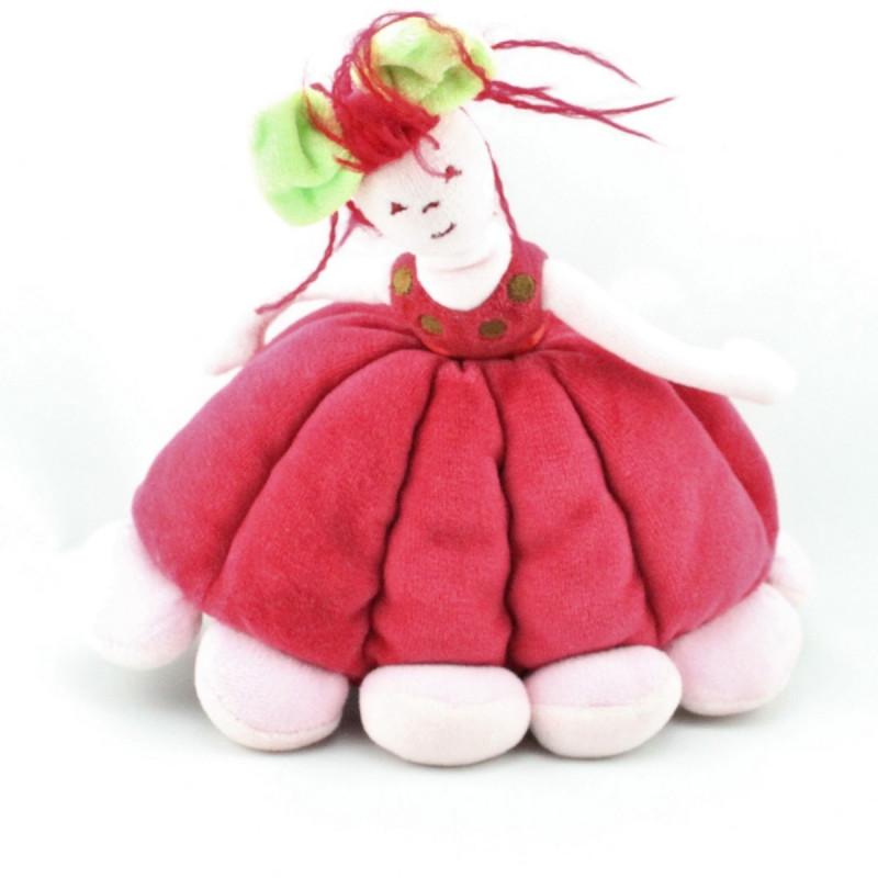 Doudou poupée rouge SERGENT MAJOR