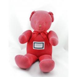 Doudou ours rouge TROUSSELIER