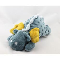Doudou dragon bleu jaune Victor et Lucien NOUKIEt Lucien NOUKIE'S