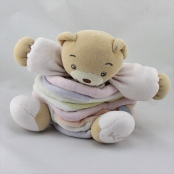 Doudou Ours Candies rose mauve blanc orange KALOO