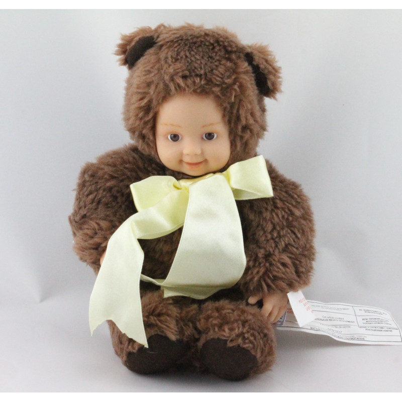 Poupée ours brun ANNE GEDDES 25 cm