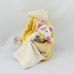 Doudou souris mouchoir dans son fromage BABY NAT