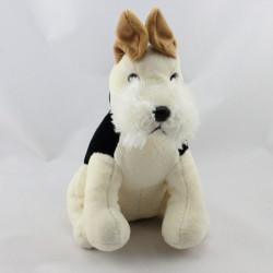 Doudou chien blanc noir marron PLAYKIDS