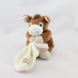 Doudou cheval marron mouchoir BABY NAT
