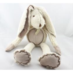 Doudou lapin blanc écru beige HISTOIRE D'OURS